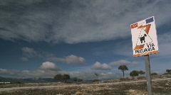 Wide sky in spain Stock Footage