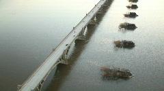 Aerial of Bridge Stock Footage