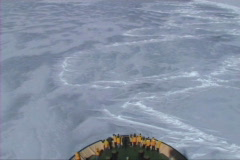 View from a Russian icebreaker Stock Footage