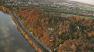 Stock Video Footage of Flight Over the Susquehanna River