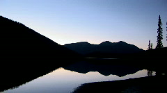 Pristine lake in evening - stock footage