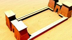 120 egyptian temple Stock Footage