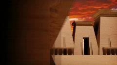 120 egyptian sun sky temple Stock Footage