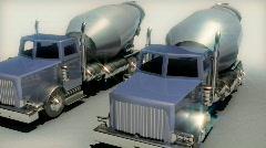 120 cement swing around series trucks Stock Footage