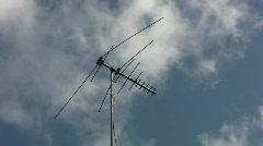 TV antenna. 2 shots. Stock Footage