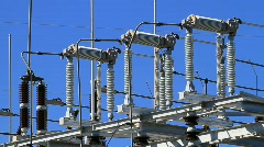 Power Plant Substation Close up Stock Footage