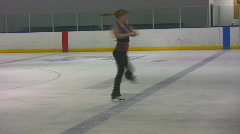 Figure skater spins02 Stock Footage