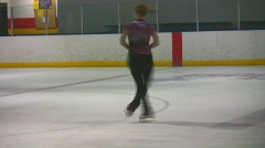 Stock Video Footage of figure skater spins