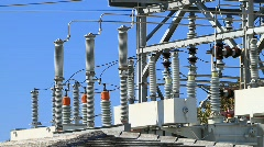 Power Plant Substation Stock Footage