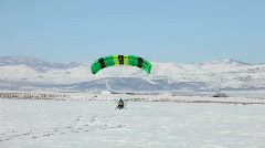 Power parachute green takeoff ice P HD 5841 Stock Footage
