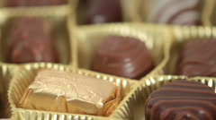 Stock Video Footage of Chocolate praline display