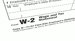 IRS W-2 Stock Footage