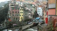 Riomaggiore, Cinque Terre, Italy Stock Footage
