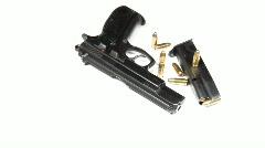 pistol and magazine - stock footage
