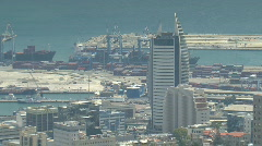 Haifa bay Zoom Out Stock Footage