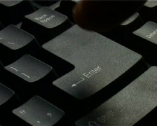 ENTER key Stock Footage