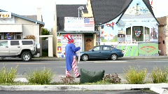 Tax Man Uncle Sam 1 Stock Footage