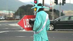 Tax Liberty Man 2 Stock Footage