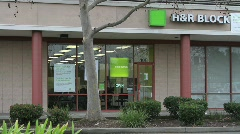 H&R Block Exterior (editorial) - stock footage