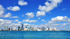 HD - Miami Skyline Stock Footage