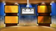 HD Virtual Broadcast Set Background Stock Footage