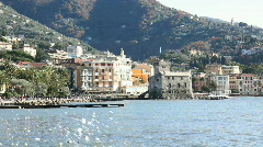 Rapallo, Italian riviera, Liguria, Italy Stock Footage