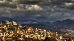 Italian old town timelapse HDR - stock footage