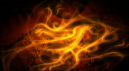 Fibrous fire motion background d4018S Stock Footage