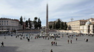 Stock Video Footage of Piazza del popolo Timelapse Tilt Shift 01