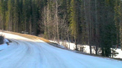Driver's view forest dirt road time lapse driving Stock Footage