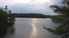 Sun Reflections on the Surface of Go Home Lake Stock Footage