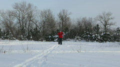 Cross-country skiing Stock Footage