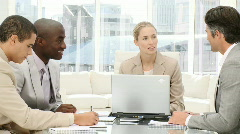 Multi-ethnic business people in a meeting - stock footage