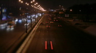 Stock Video Footage of Highway near Moscow at Night 4, HD