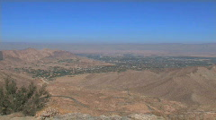 Pan of Coachella Valley, CA Stock Footage
