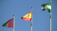 Spanish Flags Stock Footage