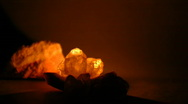 Candle and Stones Stock Footage