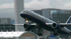 United Airlines Airplane Taking Off Stock Footage