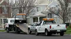 Unregistered Vehicle Being Towed Stock Footage