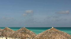 Beach Sun Shade Stock Footage
