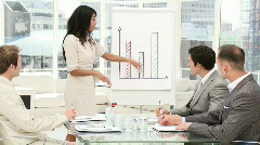 A diverse business group in a meeting Stock Footage