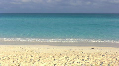 Caribbean Beach With Turquoise Sea No People Stock Footage