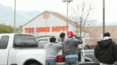 Home Depot Lot Workers - stock footage