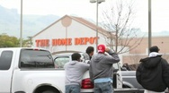 Stock Video Footage of Home Depot Lot Workers