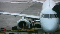 Loading Passenger Baggage Onto Aircraft Stock Footage