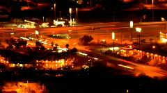 Pulsating city by night - 5 - 22nd and I-10 closer Stock Footage
