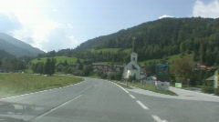 Automobile in the Alps - stock footage