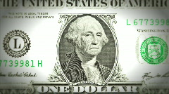 George Washington Frowning Then Smiling on a One Dollar Bill - Animation - stock footage