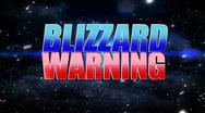 Blizzard Warning 1418 Stock Footage