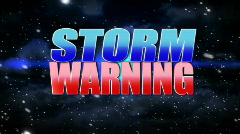 Storm Warning Animated Background Title Plate Stock Footage
